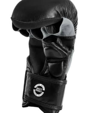 GANTS DE MMA SPARRING DAX PRO LINE, NOIR & GRIS-1