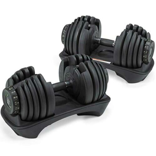 Marcy support + dumbbells 2 x 24kg-2