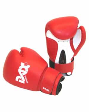 GANTS DE BOXE DAX JUNIOR ROUGE & BLANC-1