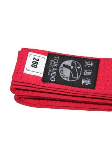 CEINTURE DE COMPETITION KARATE TOKAIDO ROUGE - WKF-2