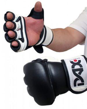 GANTS DE MMA PRO - NOIR & BLANC-1
