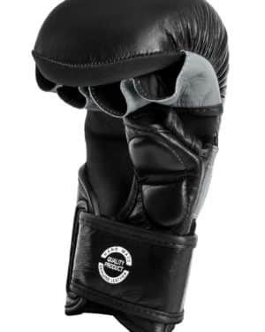 GANTS DE SPARRING MMA DAX PRO LINE NOIR & GRIS-1