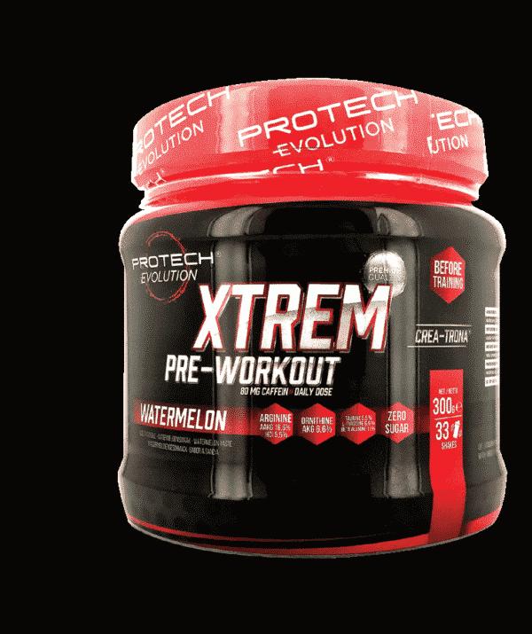 Xtrem Pre Workout 300g - 0% sucre - CITRON-1
