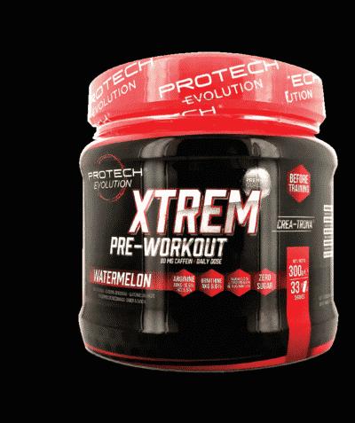Xtrem Pre Workout 300g - 0% sucre- POMME VERTE-1