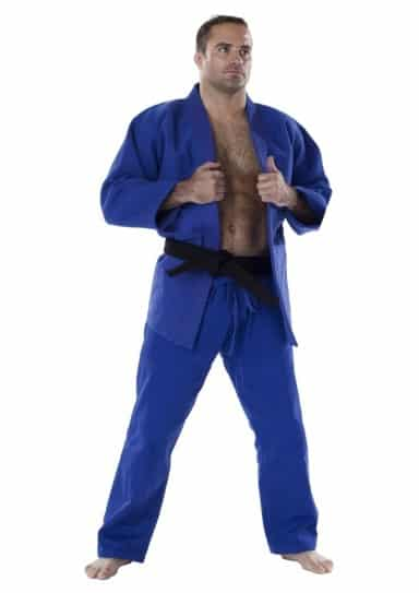 JUDOGI MOSKITO PLUS COMPETITION BLEU SANS BRODERIE-1