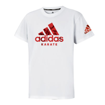 T-Shirt Community Adidas Blanc/Rouge-1