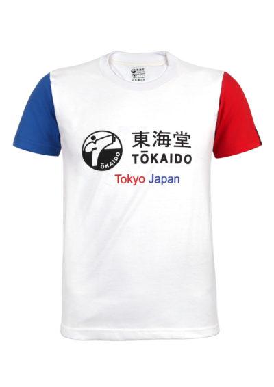T-SHIRT TOKAIDO AKA/AO BLANC-1