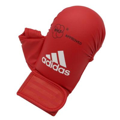 Gants de Karate Adidas avec pouce - Rouge-1