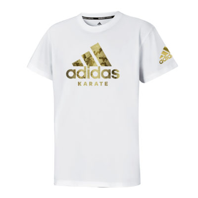 T-Shirt Community Adidas Blanc/Or Kids-1