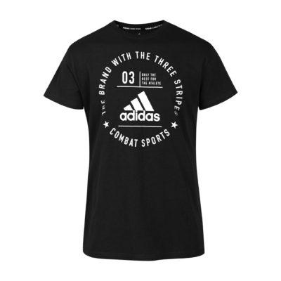 T-Shirt Community Adidas Noir/Blanc Kids-1