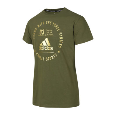 T-Shirt Community Adidas Olive/Or Kids-1