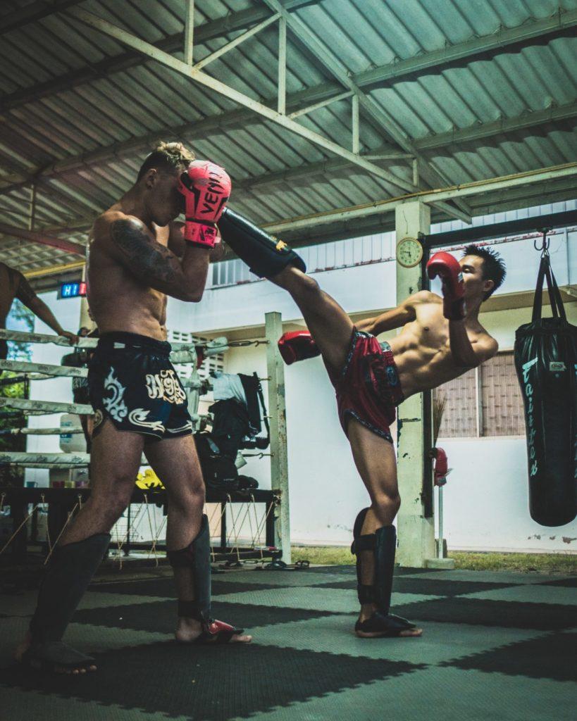 Pratique du kick-boxing