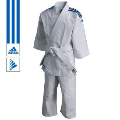 Judogi adidas J200 Evolution Blanc/Bleu-1