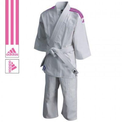 Judogi adidas J200 Evolution Blanc/Rose-1