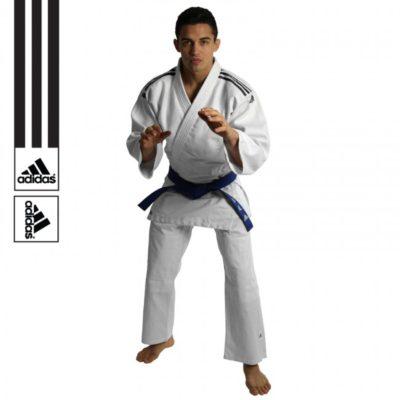 Judogi Adidas J350 Club Blanc/Noir-1