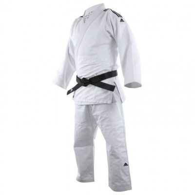 Judogi Adidas J690 Quest Blanc/Noir-1