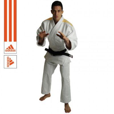 Judogi Adidas J690 Quest Blanc/Orange-1