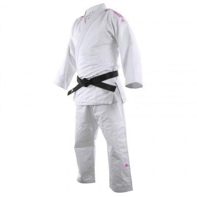 Judogi Adidas J690 Quest Blanc/Rose-1
