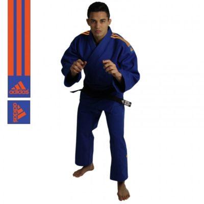 Judogi Adidas J690 Quest Bleu/Orange-1