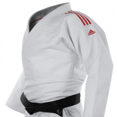 Judogi adidas J991 Édition Limitée Blanc/Rouge-1