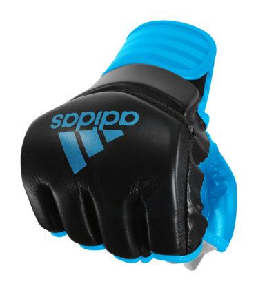Gants MMA Adidas noir/solar blue-1