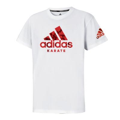 T-Shirt Community Adidas Blanc/Rouge-1