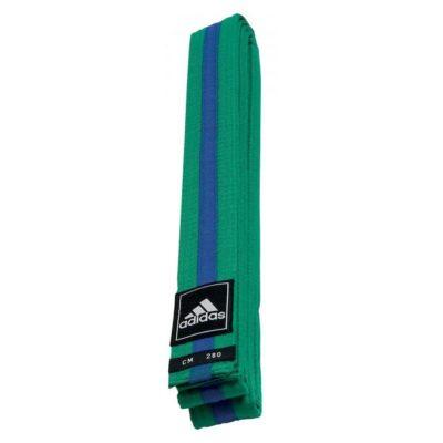 Ceinture adidas Taekwondo Poomsae Vert/Bleu-1