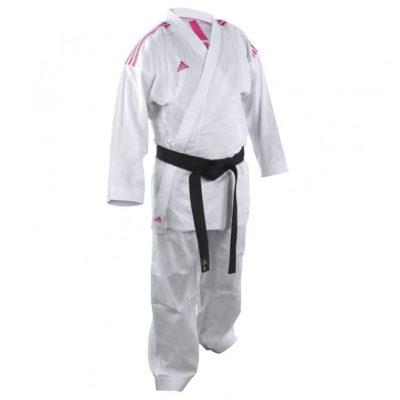 Karategi adidas K220KF Kumite Fighter Blanc/Rose-1