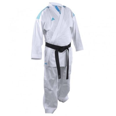 Karategi adidas K220KF Kumite Fighter Blanc/Bleu-1